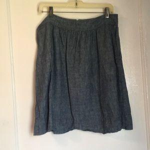 Eileen Fisher Chambray Skirt